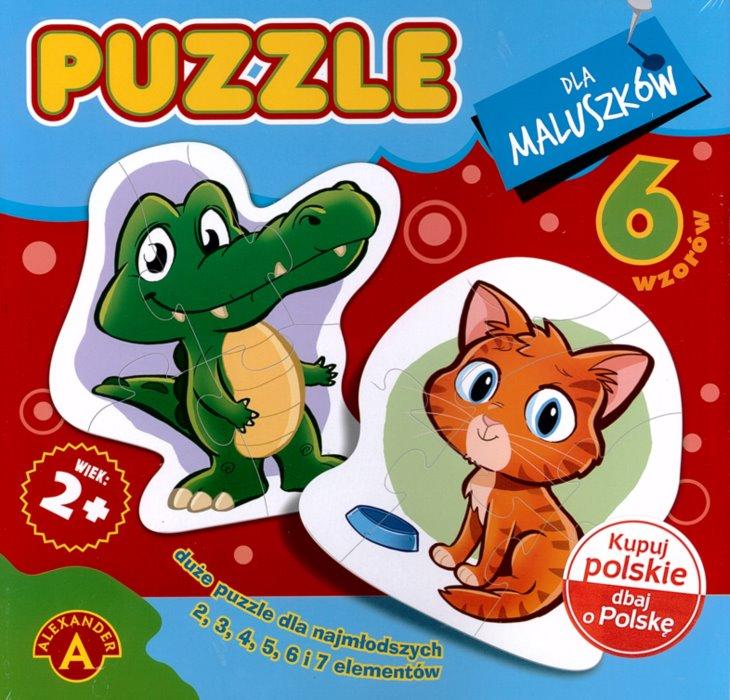 ALEXANDER Baby puzzle Zvířátka 6v1 (2-7 dílků)