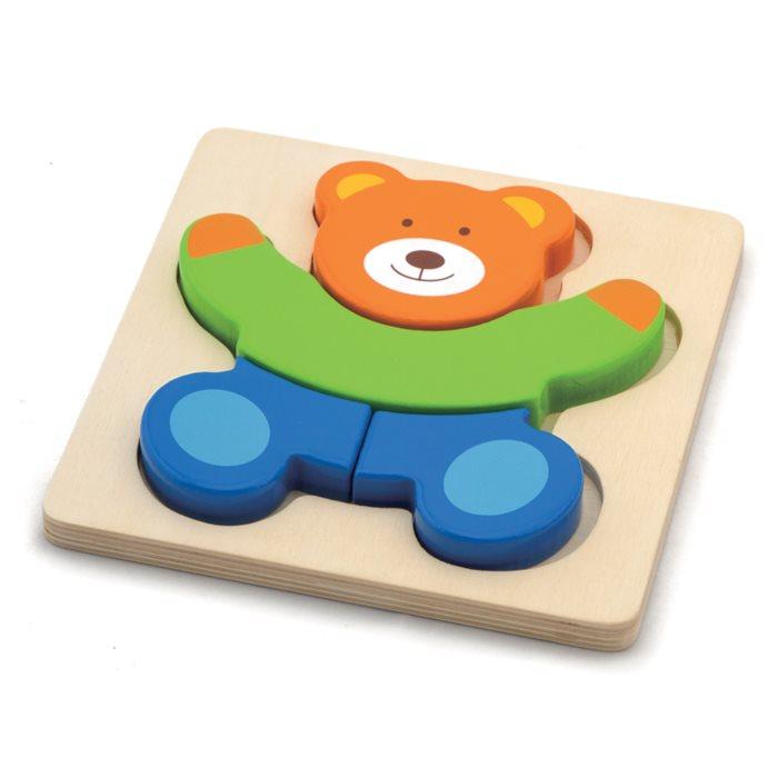 STUDO WOOD Dřevěné puzzle Medvídek 4 dílky