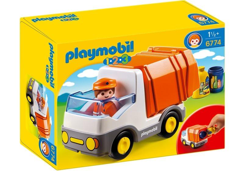 PLAYMOBIL® 1.2.3. 6774 Popelářský vůz