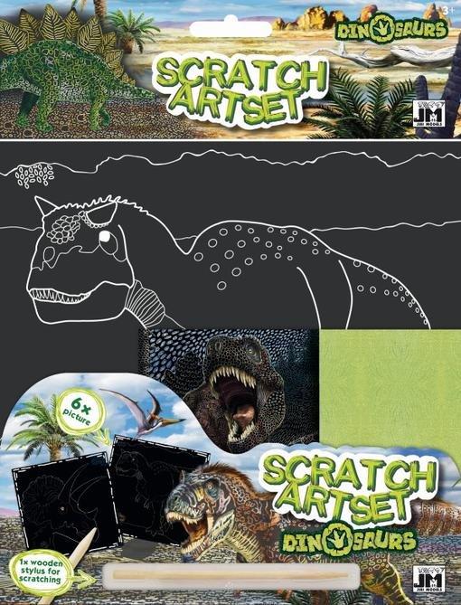 JIRI MODELS Vyškrabávací set Dinosauři